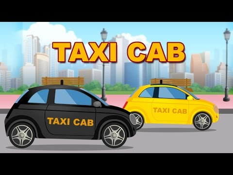 Taxi Cab | Animated Nursery Rhymes & Songs With Lyrics For Kids