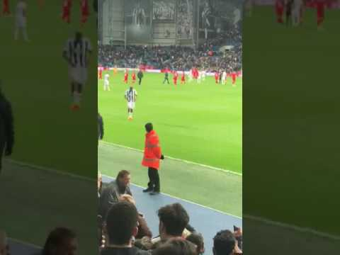 Salomón Rondón greets Venezuelan fans at West Bromwich Albion V Liverpool match