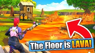 THE FLOOR IS LAVA CHALLENGE! (Fortnite Battle Royale)