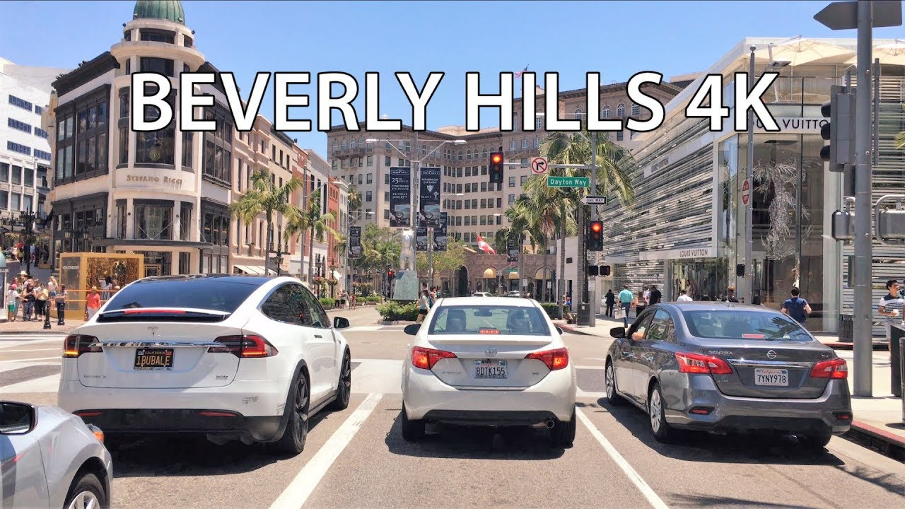 Driving Downtown Beverly Hills