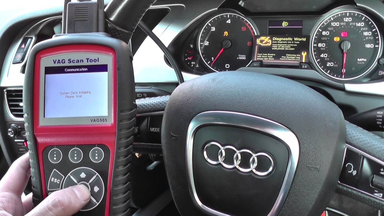 Audi A4 B8 ABS Warning Light Reset VAG 505 2008 to 2015