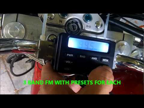 Shark Shklxmt723 Waterproof Motorcycle Fm Radio Amp Aux In