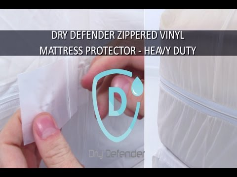 Dry Defender Zippered Vinyl Mattress Protector - Heavy Duty
