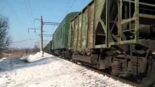 ВЛ80Т-1344, ВЛ80Т-808 (соединённый грузовой поезд) и ВЛ80С-170(Встреча соединённого грузового поезда №2304/1342 под ВЛ80Т-1344 (в голове) и ВЛ80Т-808 (в середине, 02:20) и электровоза..., 2012-08-21T18:10:32.000Z)