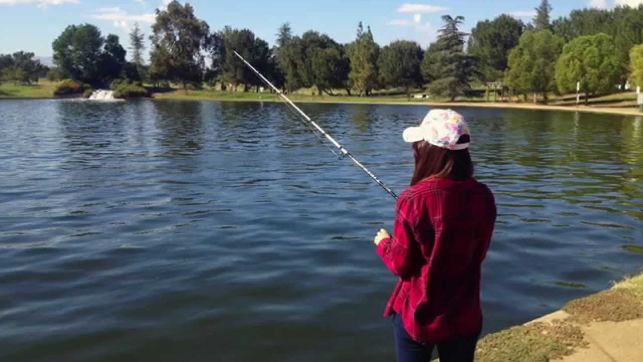 go fishing in lake balboa park youtube