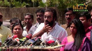 Nadigar Sangam Press Meet Regarding Actress Bhavana Issue