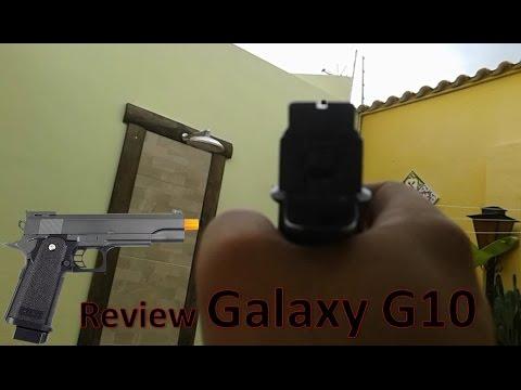 Review Airsoft Galaxy G10 / Tudo Sobre essa Pistola