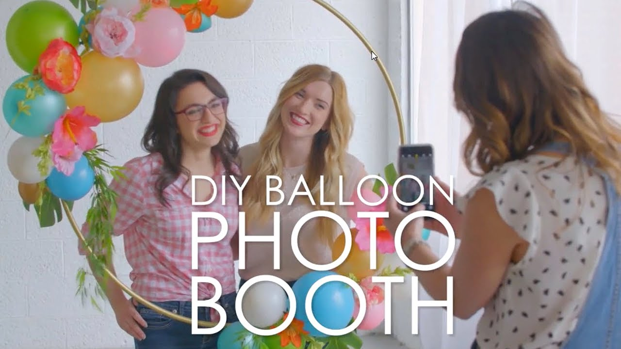 Make a diy balloon photo booth prop hgtv happy youtube make a diy balloon photo booth prop hgtv happy solutioingenieria Images