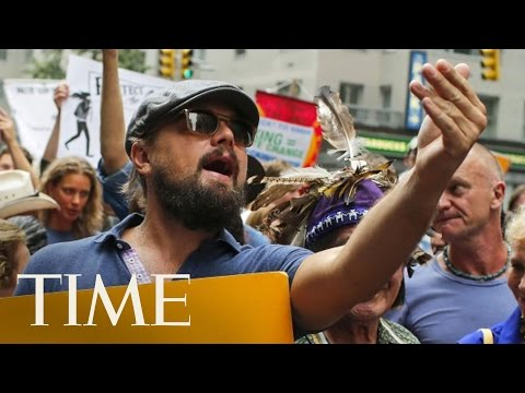 Leonardo DiCaprio Marches At The People's Climate March | TIME