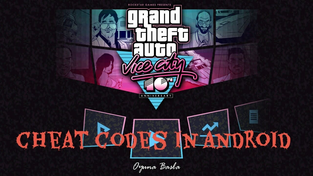 How to enter cheat codes In GTA Vice City Android