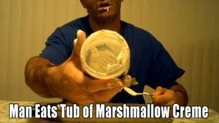 World Record in Reverse: Fastest Time to Eat 7 oz Marshmallow Creme (RecordSetter)