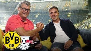 Mario Götze joins BVB Matchday Magazine | BVB - Rasenballsport Leipzig | Matchday 1