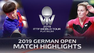 Ольга Воробьева vs Sun Yingsha | German Open 2019 (R16)
