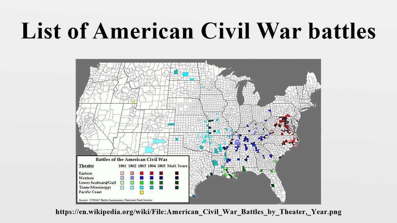 List of American Civil War battles YouTube