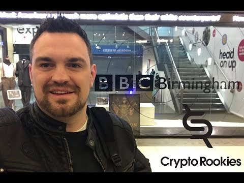 James on the TV for the BBC talking crypto currency & bitcoin