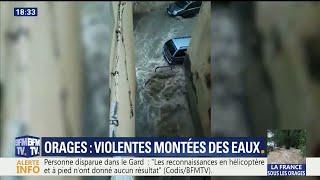 Orages : les images de l'impressionnante montée des eaux