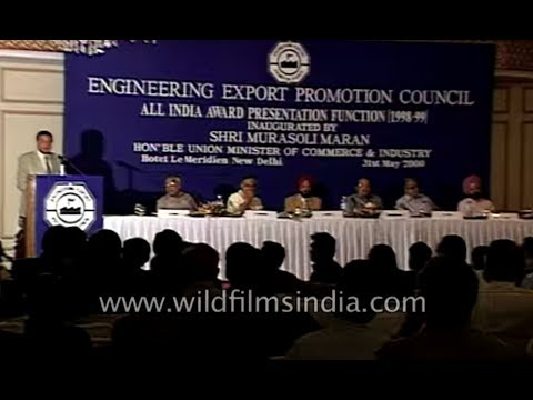Award ceremony for excellent export at Engineering Export Promotion Council 1998-99