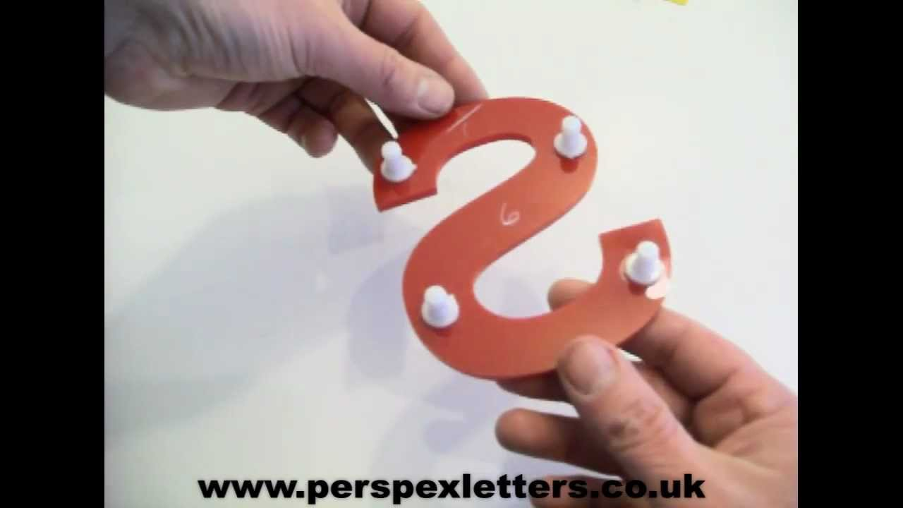 How To Fit Acrylic Letters Youtube