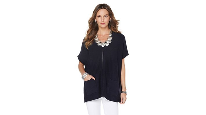 3c0c55a5cb6cd MarlaWynne Sleeveless Zip Front Knit Cardigan - YouTube