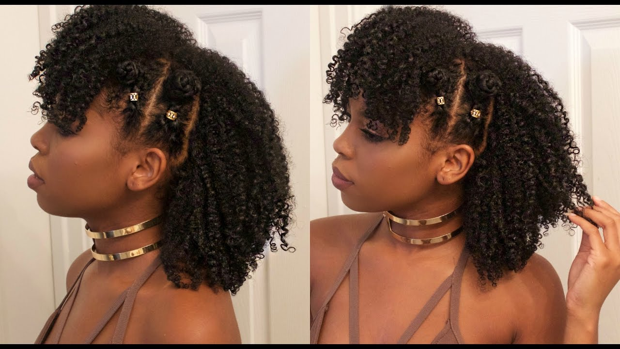 Natural Hair Styles Bantu Knots: Braided Bantu Knot Mohawk Style On Natural Hair FT. Jane