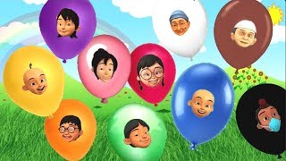 Upin Ipin Belajar Warna Balon , Learn Colors Balloons