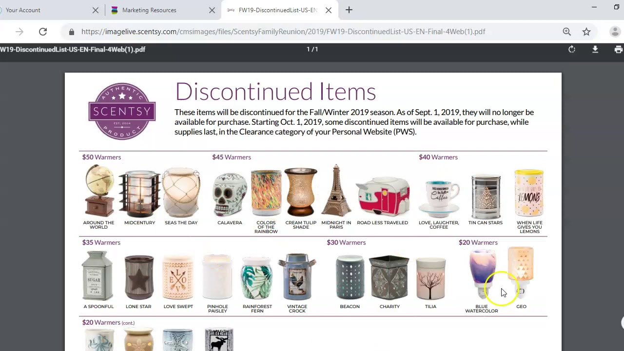 Scentsy Spring Summer 2019 Discontinued List!