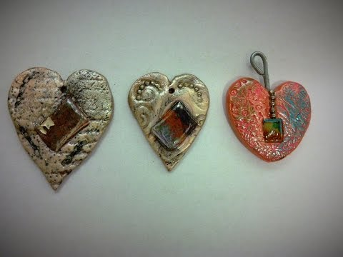 Clay Play:  Simple Hearts