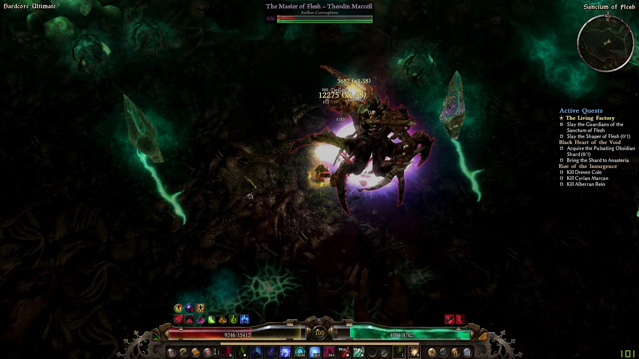 Grim Dawn - Infernal Tremor Deceiver vs  HC Ult  Shaper of Flesh