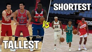 Tallest vs Shortest Players In NBA History!  NBA 2K19 Gameplay