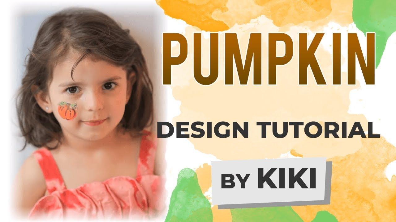 Pumpkin Face Painting Tutorial - YouTube