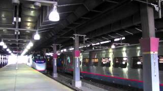 3 Acela Express Trains Meet at South Station
