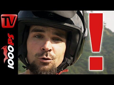Sicherheit beim Motorradfahren! Wichtiger Hinweis