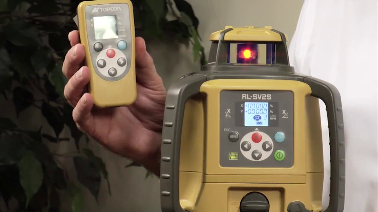 TOPCON Construction Laser RL-SV2S Training Video