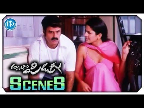 Allari Pidugu Movie Scenes - Katrina Kaif Lipkiss to Balakrishna | Charmy Kaur | Puneet Issar thumbnail