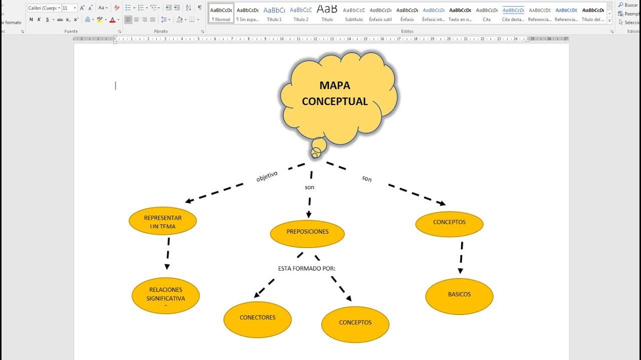 Como hacer un mapa conceptual en word 2016 youtube for Como crear un plano