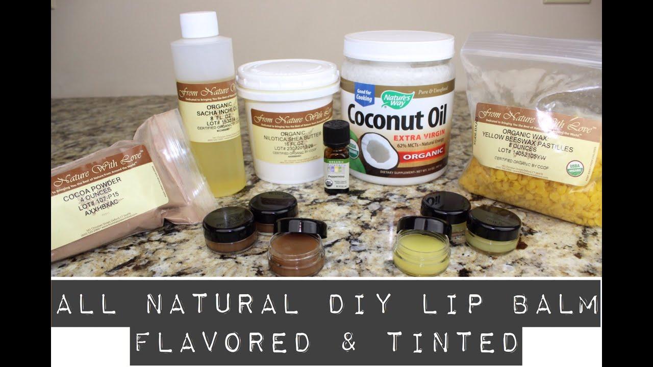 All Natural DIY Lip Balm Flavored