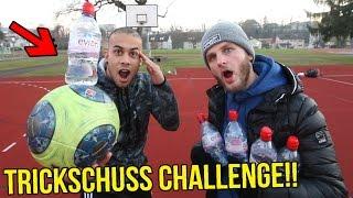 EXTREME BOTTLE FLIP TRICKSCHUSS CHALLENGE + KATZEN FUTTER BESTRAFUNG!!