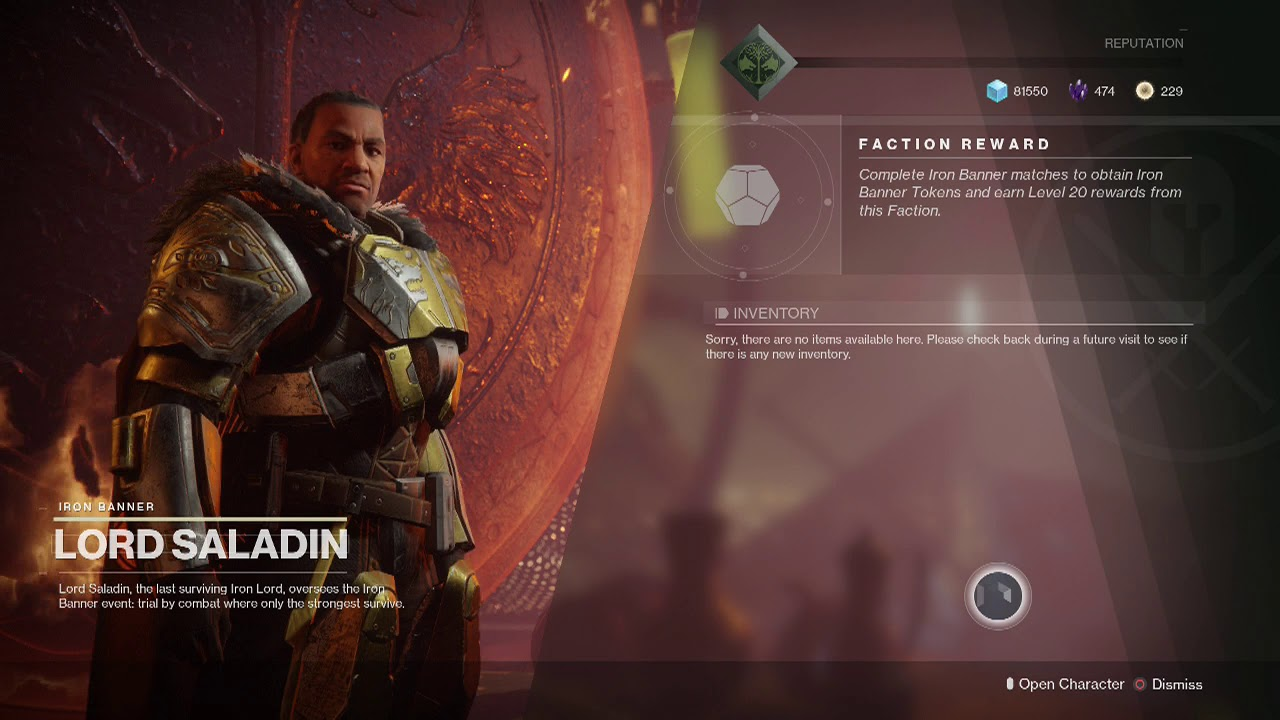 Iron Banner returns next week - what's new in Lord Saladin's monthly