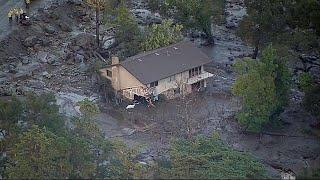 إنهيارات أرضية في كاليفورنيا تودي بحياة ثلاثة عشر شخصا على الأقل