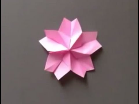 How To Make A Origami Petals Of Beautiful Cherry Tree Blossom