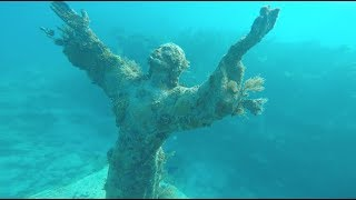 Free diving in Key Largo-  Christ of the Abyss-  Episode 8