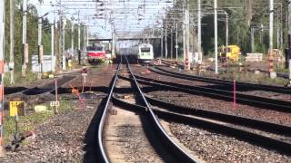 Pendolino train S45 passes Riihimäki. Sm3 Pendolino S45 ohittaa Riihimäen aseman