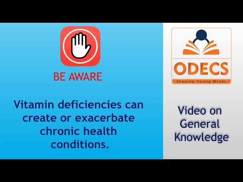 Vitamin deficiencies can create or exacerbate chronic Health Conditions