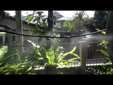 DIY Mist Watering 4 Way in Garden Lawn Misting Greenhouse Hidroponics
