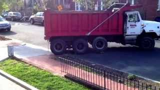 Dump truck backing up. April 23, 2014