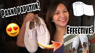HOW TO REMOVE YELLOW STAINS ON WHITE SHOES 👟