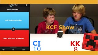 Licking the Toilet Seat at Walmart | Would You Rather | KCF Show #1
