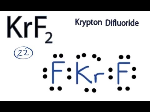 KrF2 Lewis Structure: How to Draw the Lewis Structure for KrF2 ...