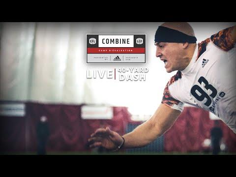 40 Yard Dash Livestream - WR & DB   CFL Combine 2016