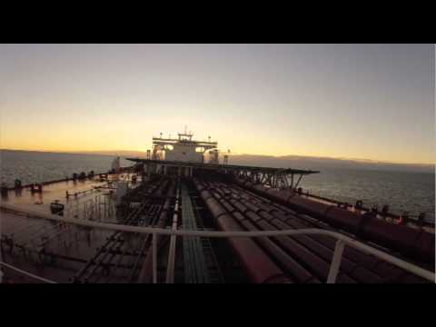 Helicopter landing on a Shuttle tanker